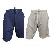 Kit com 02 Bermudas Moletom - Casual - Academia - Super Top - Cores Lisas