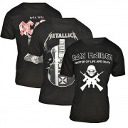 Kit com 3 Camiseta Banda de Rock - 100% Algodão - Top - Camisa de Banda