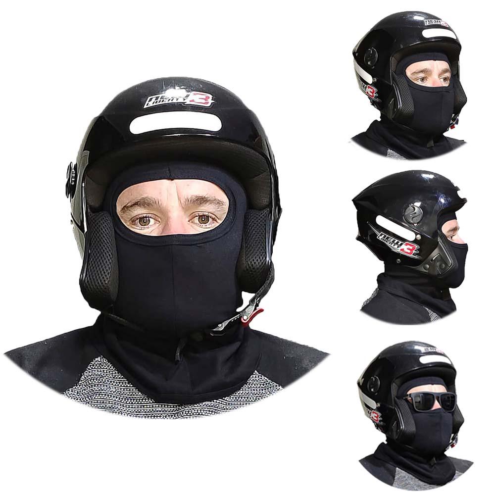 Kit 3 X Balaclava Capuz Touca Ninja Balaclava - Bike Moto Paintball Frio