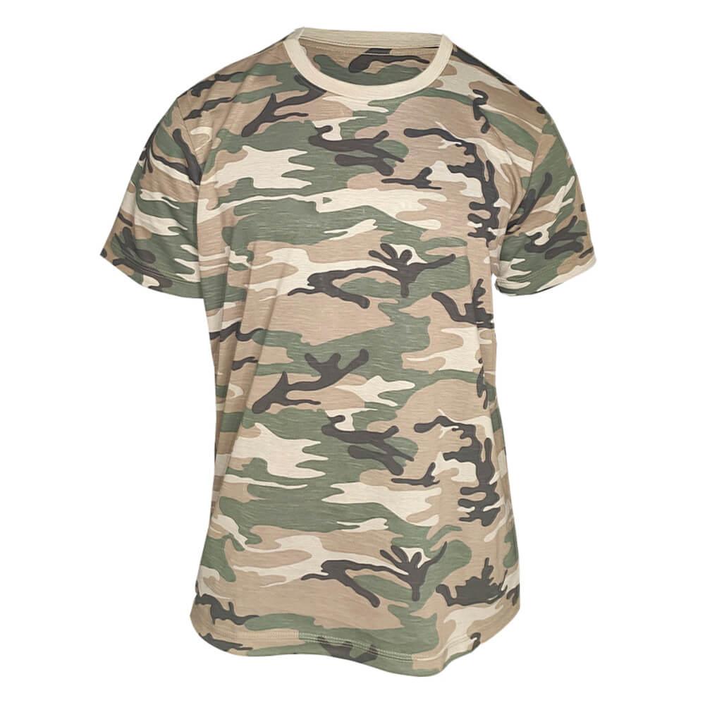 Kit 8 X Camiseta Camuflada Masculina Exército Militar - Camisa Blusa