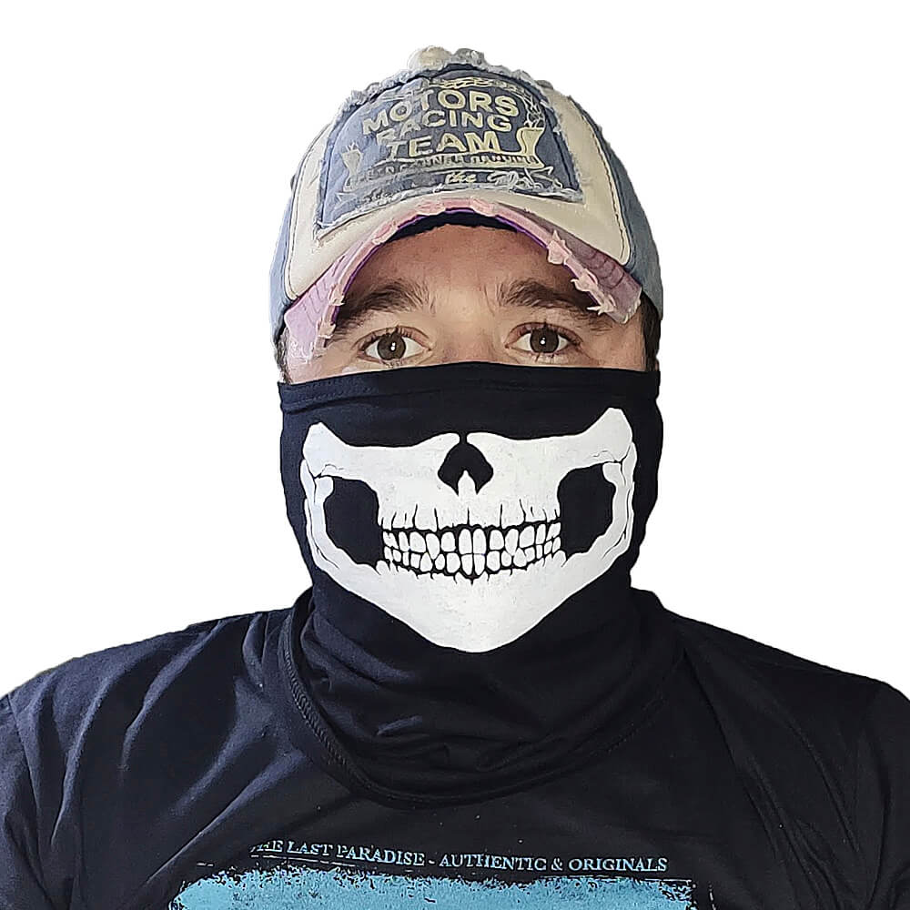 Balaclava Caveira Bandana Caveira - Paintball Airsoft Touca Toca Skull Ninja