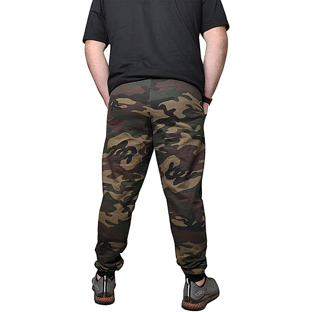 Calças Moletom Camuflada Slim Skinny Jogger Algodão
