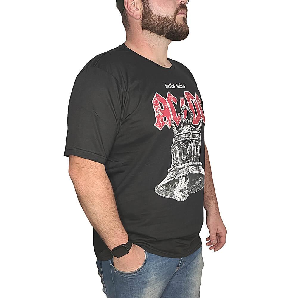 Camiseta ACDC Banda de Rock - 100% Algodão - Top - Camisas de Banda