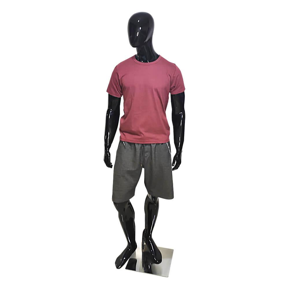Camiseta Básica Masculina Bordô - Casual T-Shirt