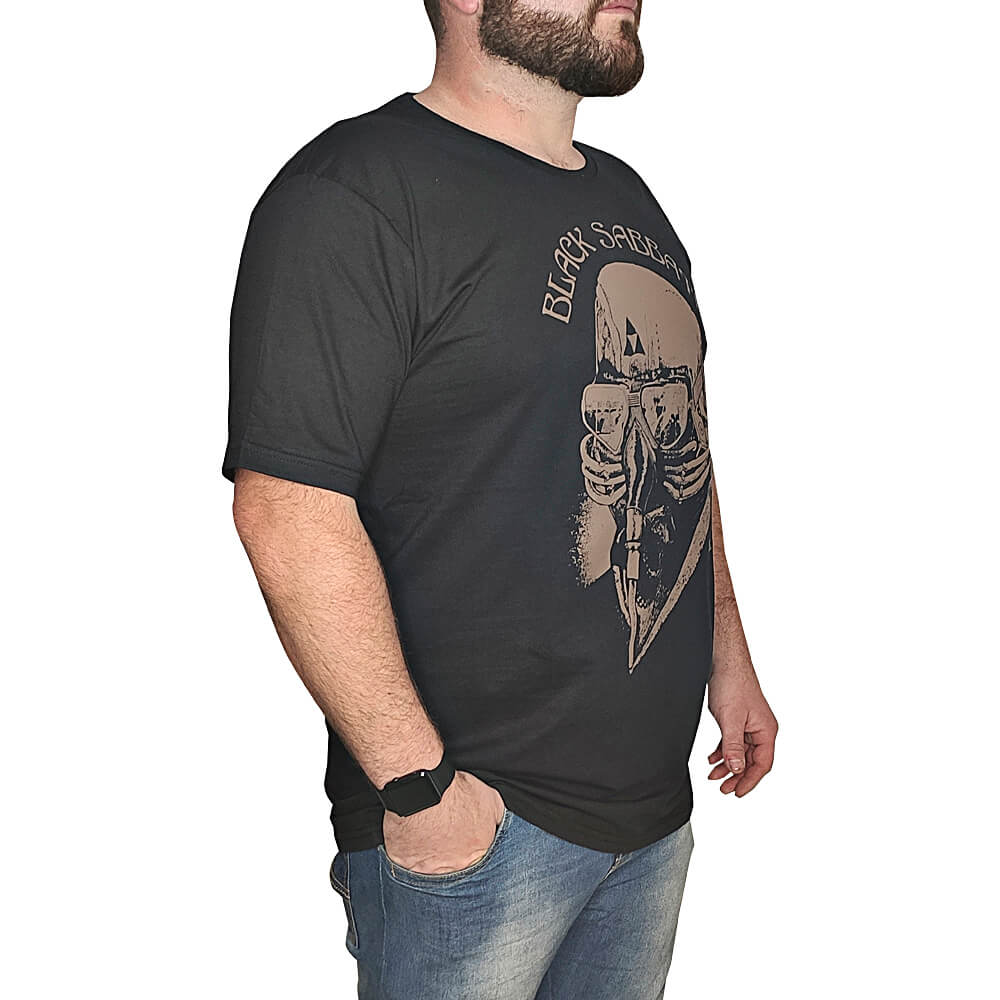 Camiseta Black Sabbath Banda de Rock - 100% Algodão - Top - Camisas de Banda