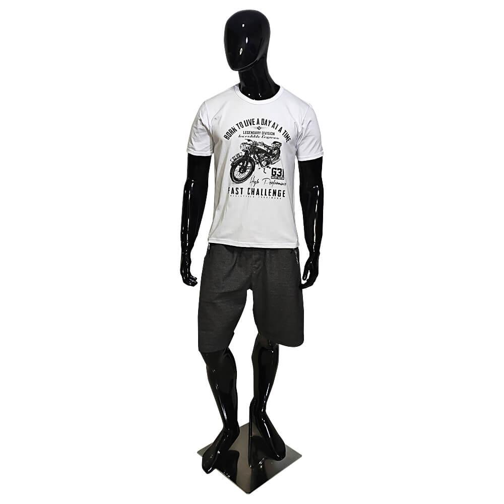 Camiseta Branca Masculina Estilosa - Estampada