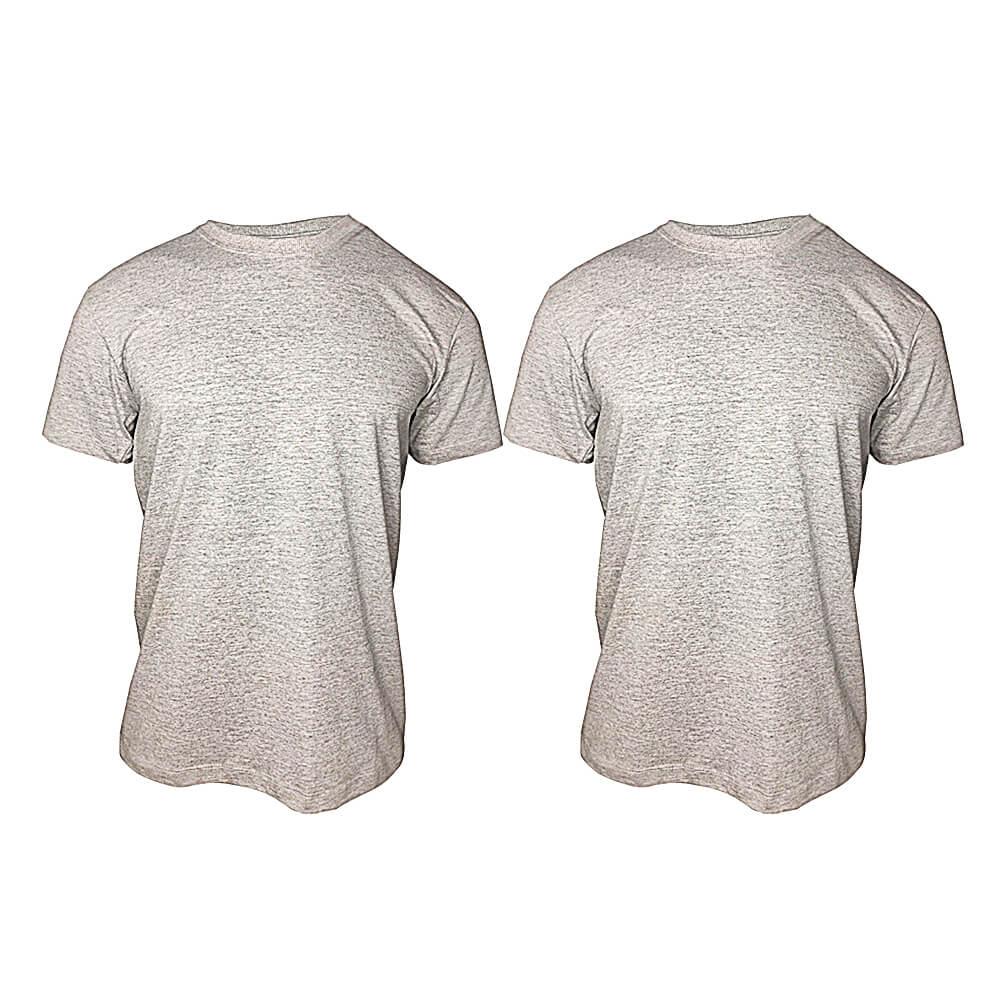 Camiseta Cinza Mescla Lisa Masculina  -  100 % Algodão Básica -  T-Shirt
