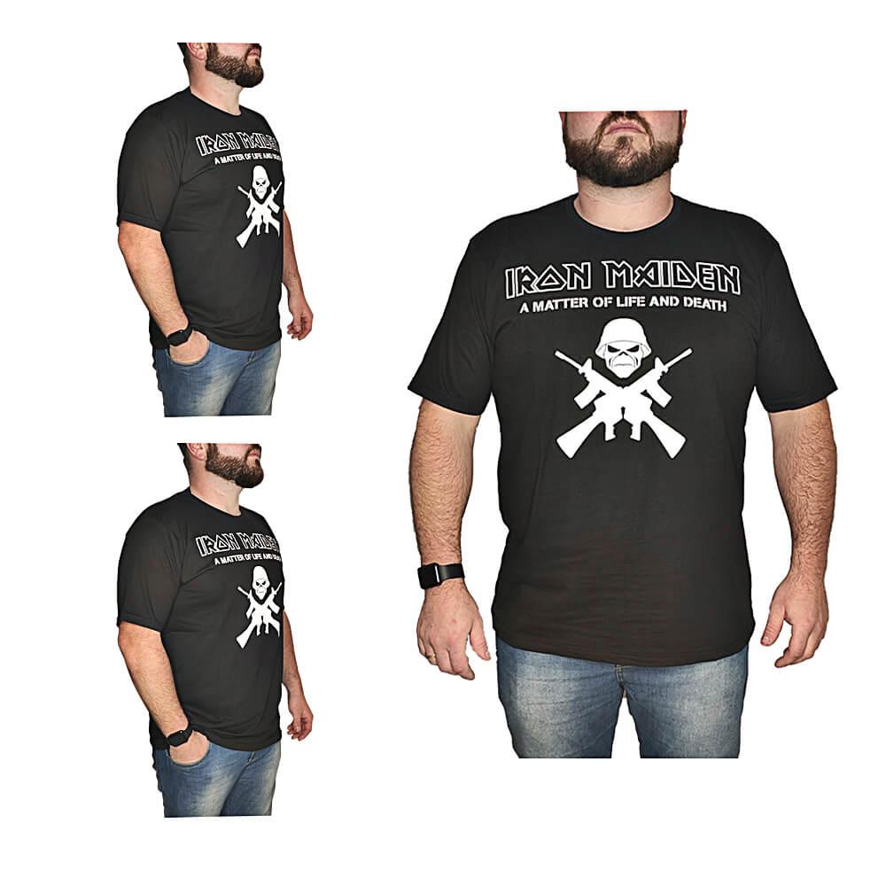 Camiseta Iron Maiden Banda de Rock - 100% Algodão - Top - Camisas de Banda