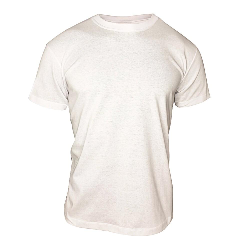 Camiseta Branca Lisa Masculina -  100 % Algodão Básica -  T-Shirt