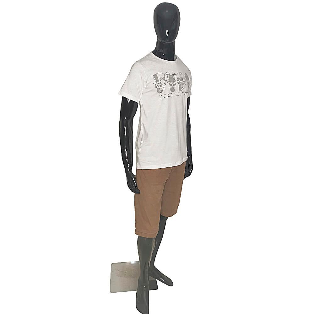 Camiseta Masculina 4 Caveiras - Alto Relevo Skull