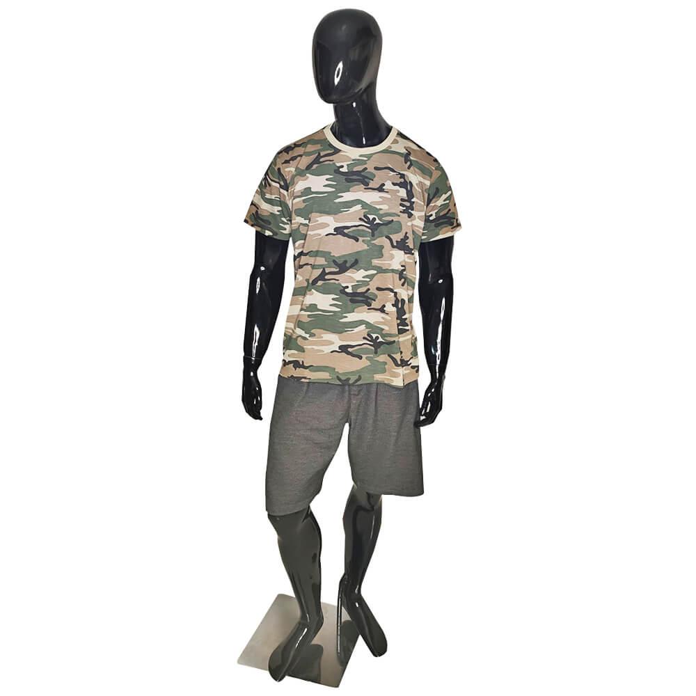 Camiseta Camuflada Exército Militar - Masculina Camisa Blusa