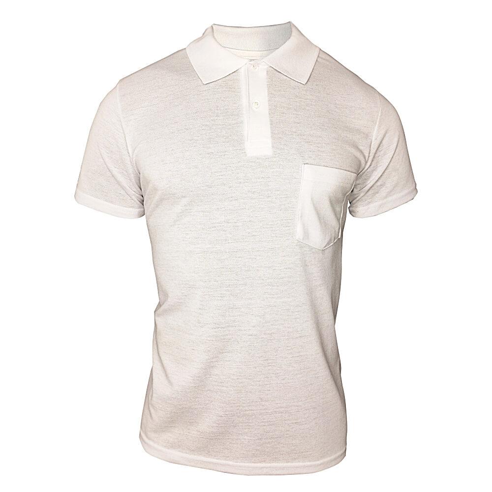 Camiseta Polo Masculino - Branca - Ótima Qualidade - Promoção