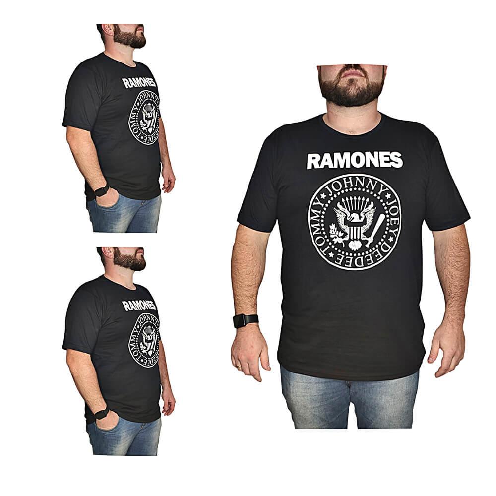 Camiseta Ramones Banda de Rock - 100% Algodão - Top - Camisas de Banda