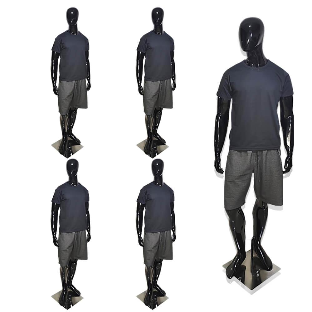 Kit 10 Camisetas Masculinas Básicas Preta de Algodão Camisa Preta