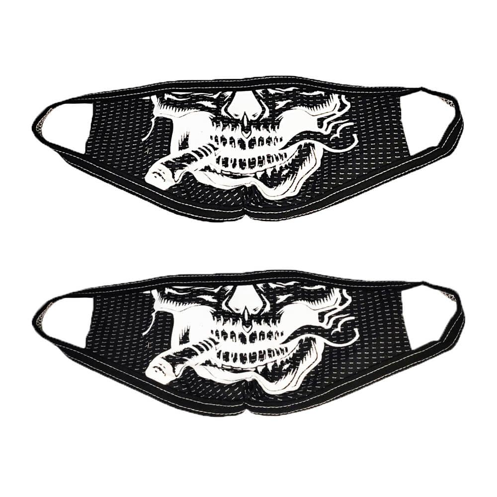 Kit 2 Máscaras de Caveira com Charuto Personalizada de Tecido