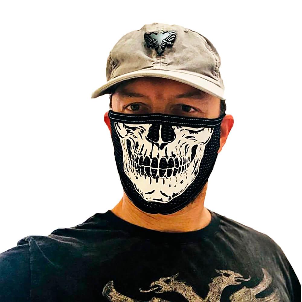 Kit 2 Máscaras de Caveira Grande Personalizada de Tecido