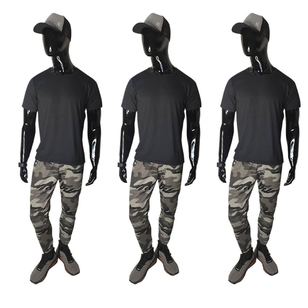 Kit 3 Calças Moletom Camuflada Slim Skinny Jogger Algodão