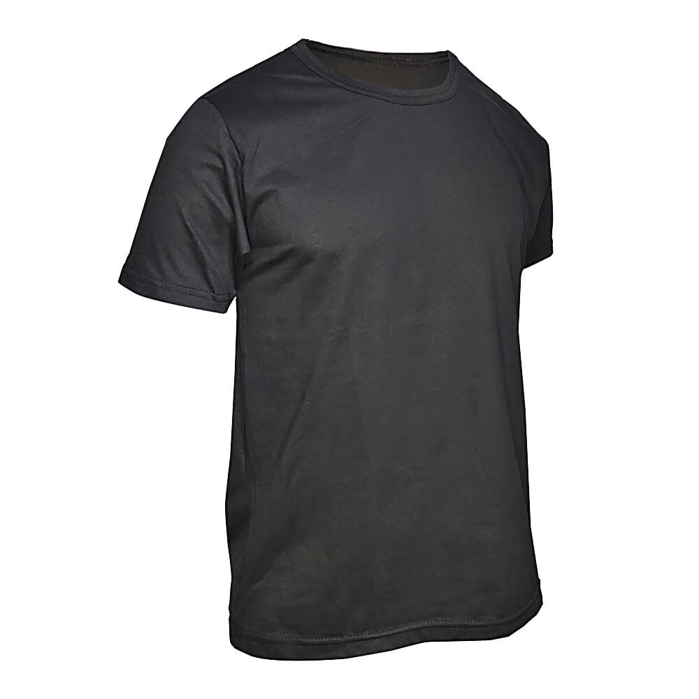 Kit 3 Camisetas Básica Masculina Pretas - Casual T-Shirt - Camisa Preta