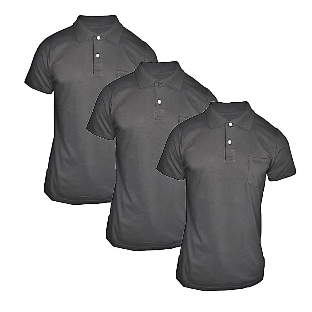 Kit 3 Camisetas Polos Masculina - Camisa Gola Pólo Algodão - Premium