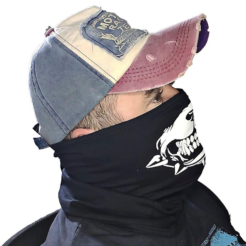 4 X Balaclava Bandana Caveira Estampada - Skull, Touca Ninja, Moto, Bike e Paintball