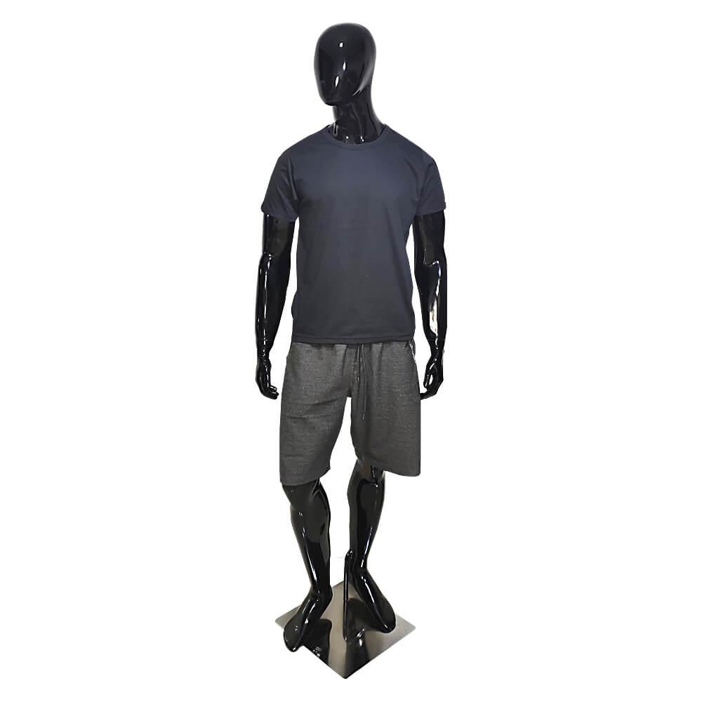 Kit 4 Camisetas Básica Masculina Pretas e Bordôs - Casual T-Shirt