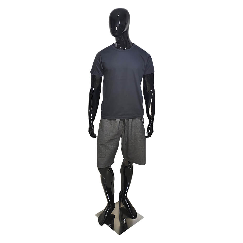 Kit 5 Camisetas Básica Masculina Pretas - Casual T-Shirt - Camisa Preta