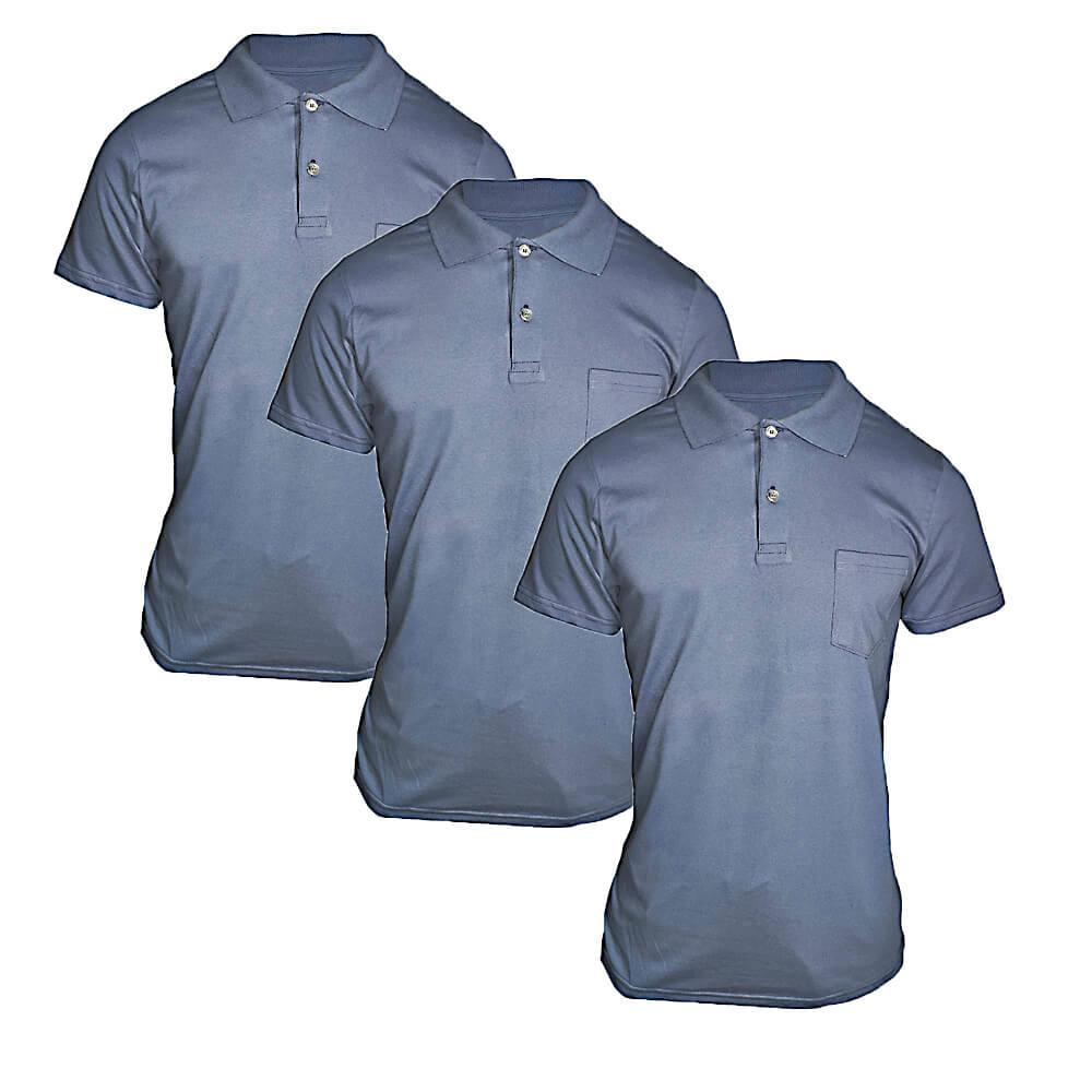 Kit 6 Pç Camiseta Polo Masculina - Camisa Gola Pólo Algodão