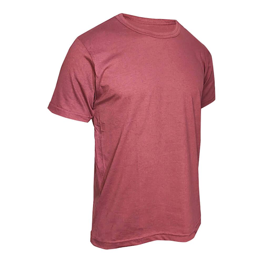 Kit 5 Camisetas Básica Masculina Bordô - Casual T-Shirt