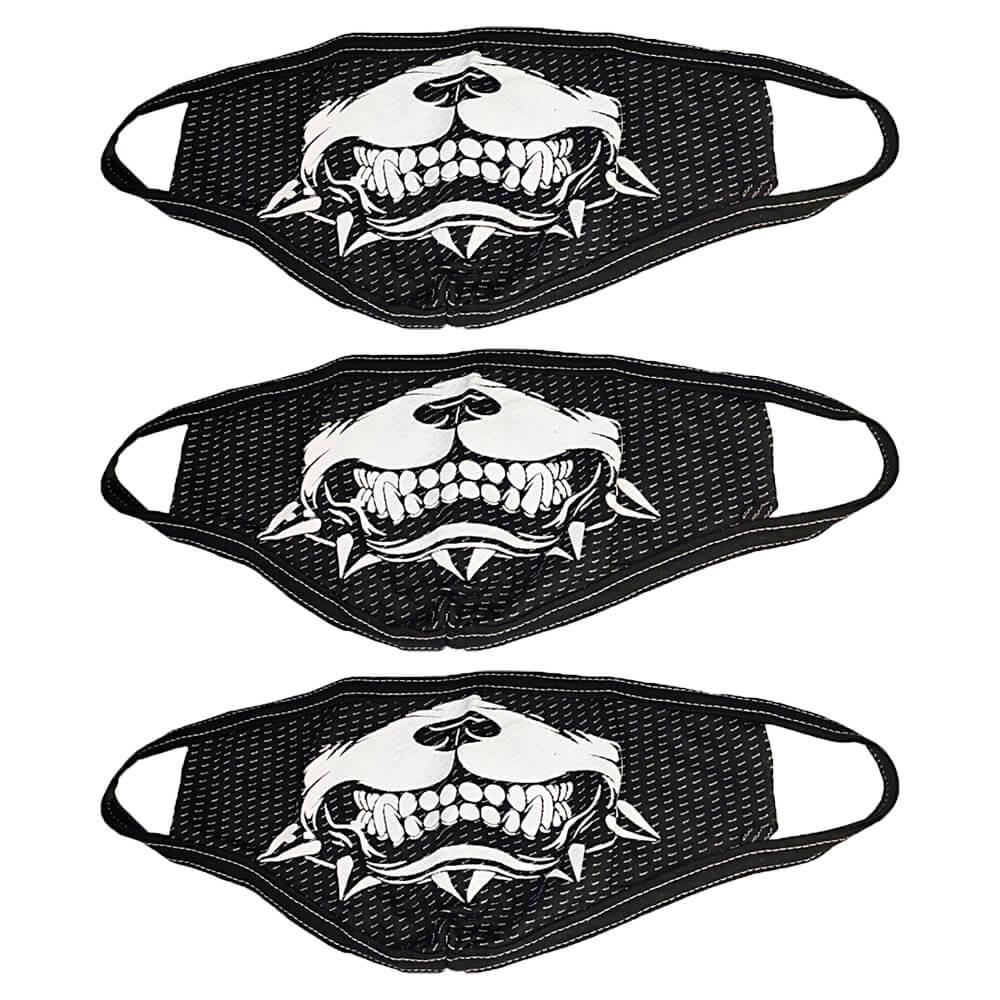 Kit com 3 Máscaras de Tecido Estampada - Lavável