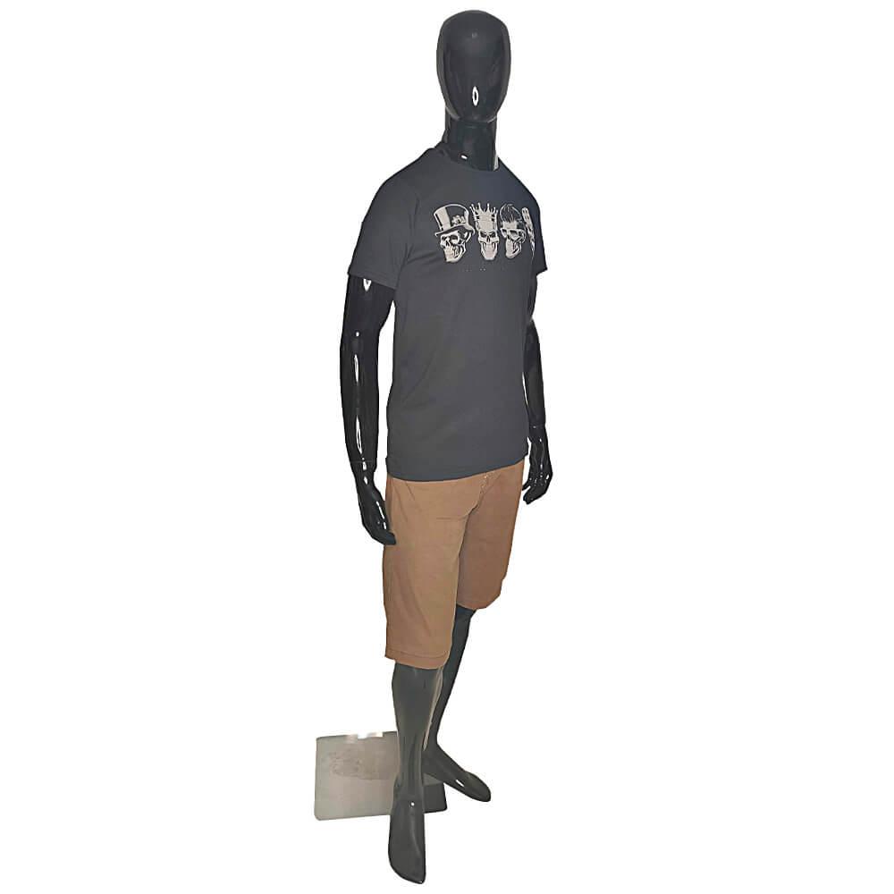 Kit com 4 Camisetas 4 Caveiras - Alto Relevo Skull - Camisa Masculina