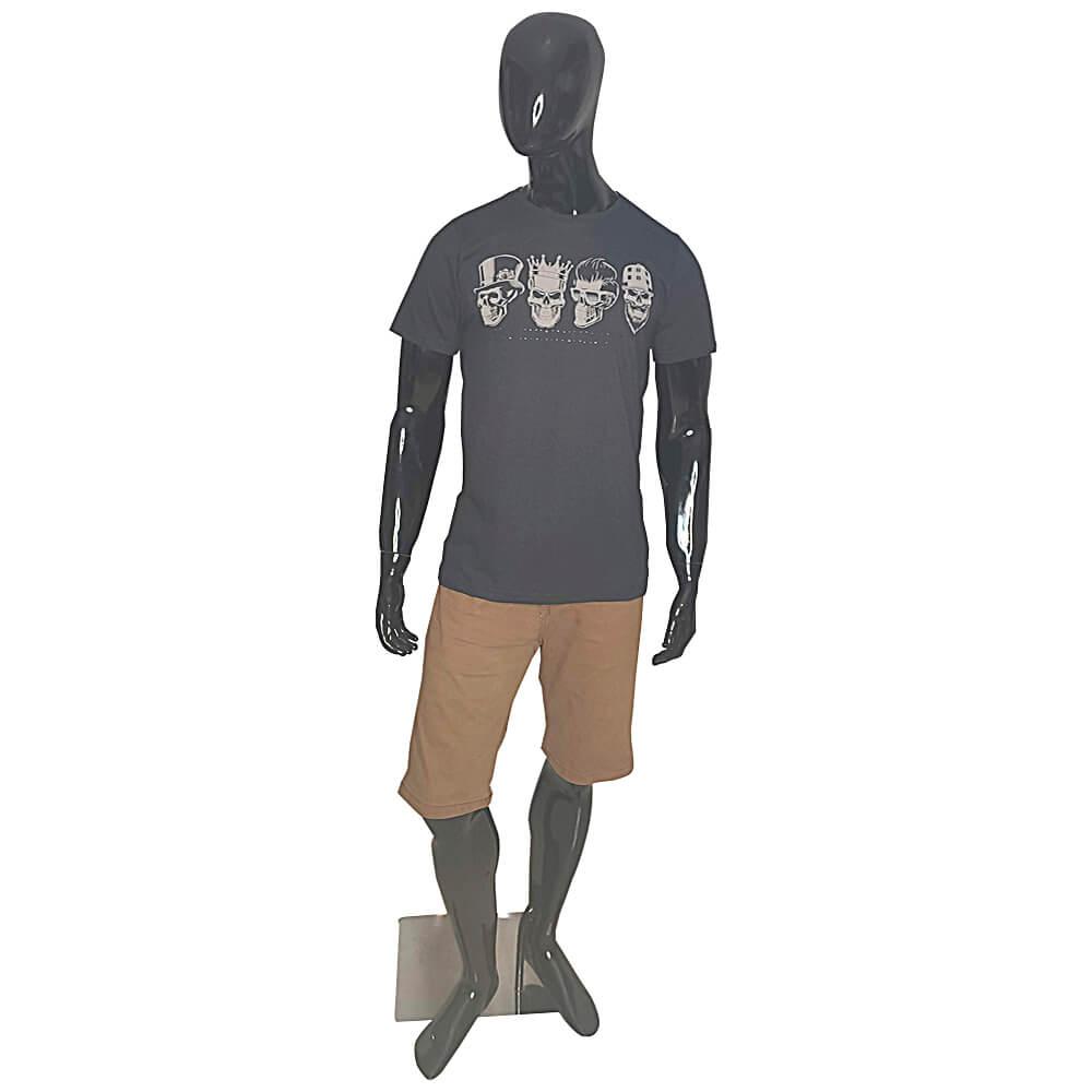 Kit com 6 Camisetas 4 Caveiras - Alto Relevo Skull - Camisa Masculina