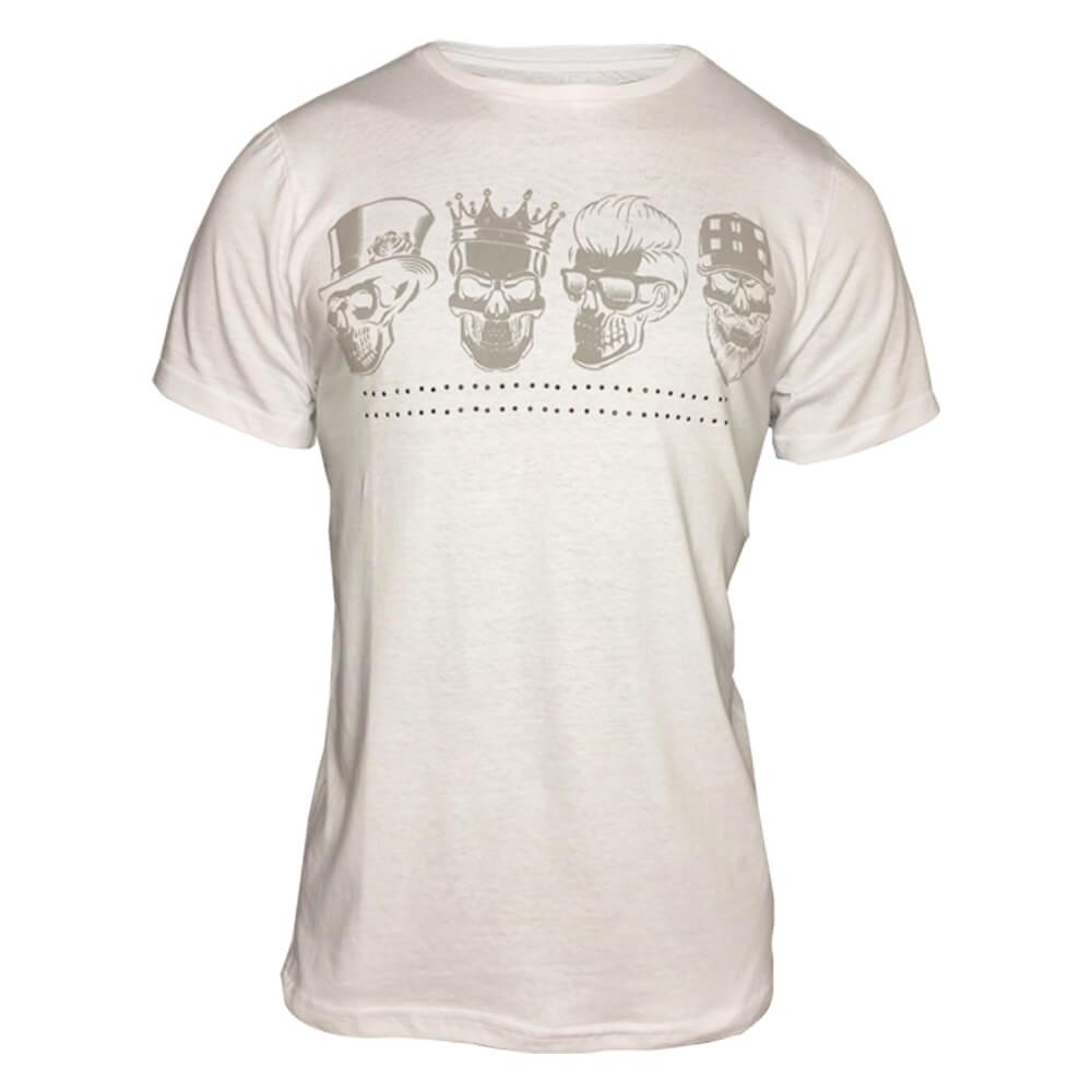 Kit com 8 Camisetas 4 Caveiras - Alto Relevo Skull - Camisa Masculina