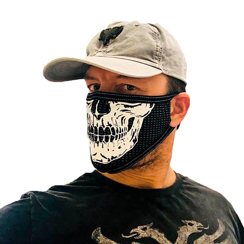 Máscara de Tecido para o Rosto Estampa de Caveira