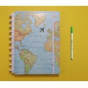 Caderno Inteligente By Go Case Mapa Mundi - Grande