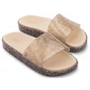 Chinelo Melissa Beach Slide Next Gen - Vidro/Glitter
