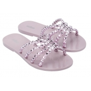 Chinelo Melissa Crystal Lilas/Rose