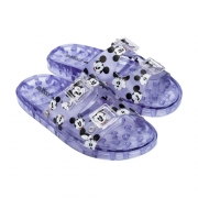 Chinelo Melissa Wide Mickey Friends - Vidro e Branco
