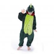 Macacão Kigurumi Infantil Dinossauro - 7 a 8 Anos