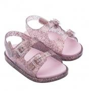 Sandália Mini Melissa Wide Sandal - Vidro/Glitter M