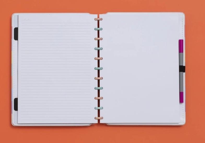 Caderno Inteligente Arco Iris Pastel - Grande