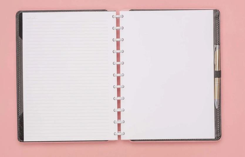 Caderno Inteligente Rose Pastel - Grande