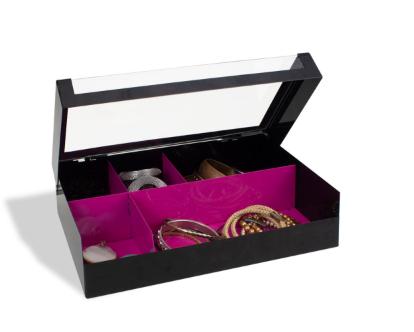 Caixa de Metal Porta Make e Bijoux com Divisórias