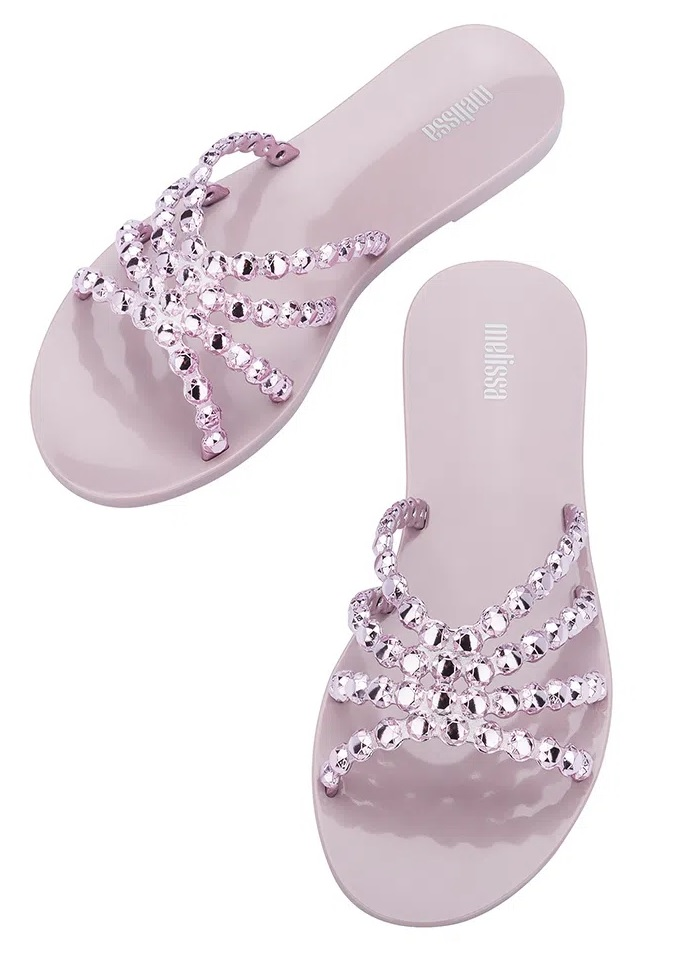 Chinelo Melissa Crystal - Lilas/Rose