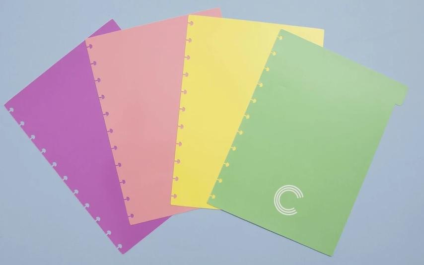 Divisórias Caderno Inteligente Pastel - Grande