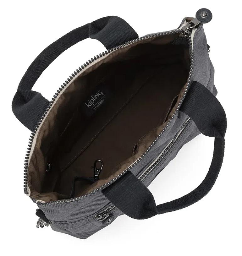 Eleva Bolsa de Mão Kipling - Charcoal