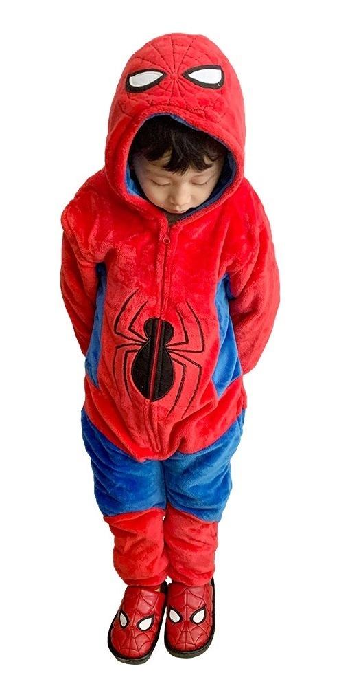 Macacão Kigurumi Infantil Spiderman - 3 a 4 Anos