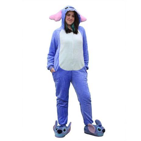 Macacão Kigurumi Stitch - Tam P