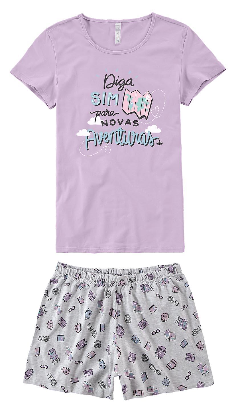 Pijama Manga Curta Malwee - Diga Sim Para Novas Aventuras
