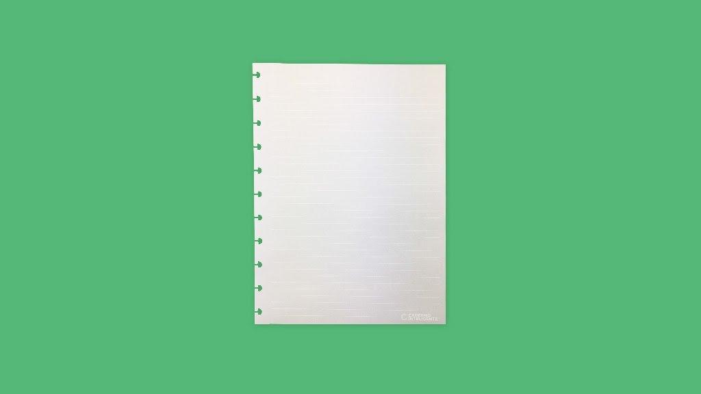 Refil Pautado Linha Branca Caderno Inteligente - Grande 120 g