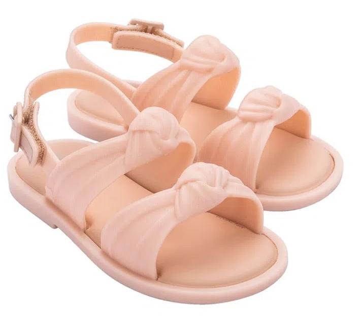 Sandália Mini Melissa Velvet Sandal - Rosa/Glitter